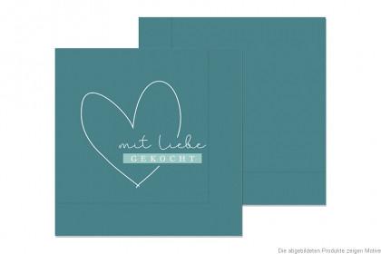 130352 Seviette grün mit Liebe